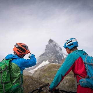 Ziel Schwarzsee und das Matterhorn im Blick