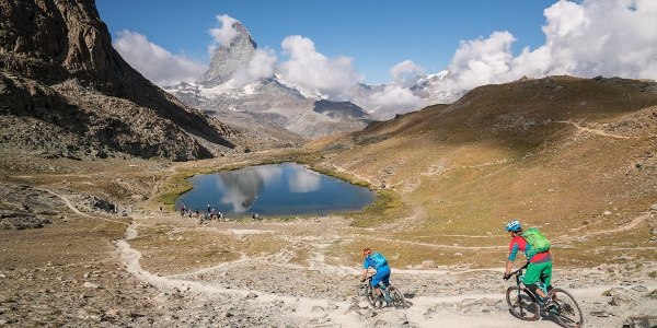 Exploring by bike, with the Matterhorn (4,478 m) always in view