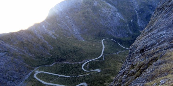Entering the mountain area on Milford Road