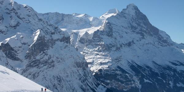 Schneeschuhtour mit Eiger-Panorama.