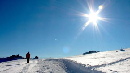 Schnurgerade über den Tsanfleuron-Gletscher.
