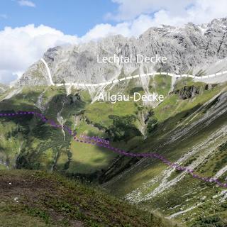 Blick zurück von der Schönberghütte
