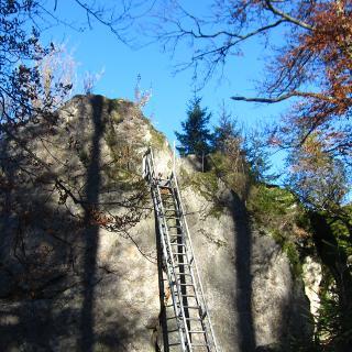 Leiter am Riederinfelsen