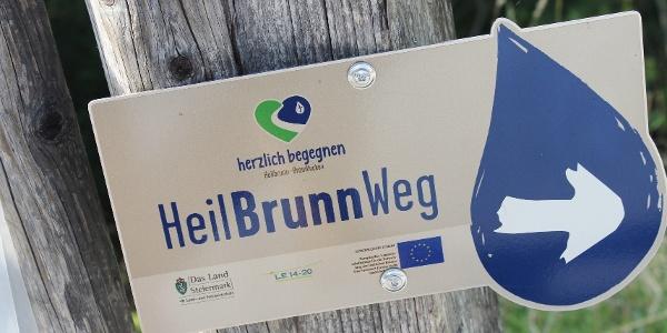 Weg-Markierung HeilBrunnWeg