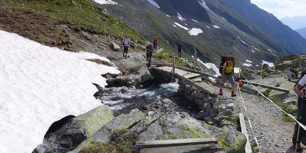 Letzte Bachquerung nahe der Hütte