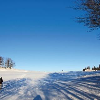 Schneeschuhwandern auf dem Montoz.