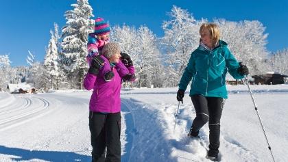 Winterwanderung mit der Familie