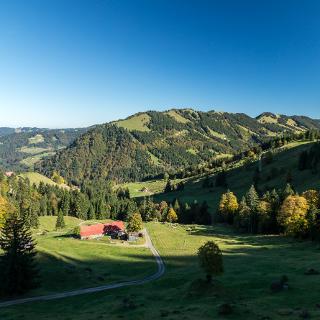 Blick nach Norden auf die Alpe Schilpere