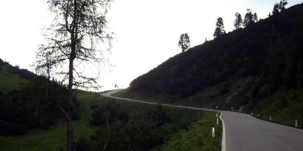 Hanntennjoch, kurz vor der Passhöhe