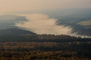 Foto Kipphornaussicht Blick ins böhmische Elbtal am Morgen
