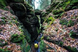 Foto In der Teufelskammer zwischen Uttewalde und Wehlen