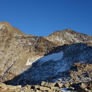 v.l: Gr. Bigerhorn und Balfrin (NW Gipfel)
