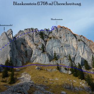 Blankensteinüberschreitung Übersichtsbild-Topo