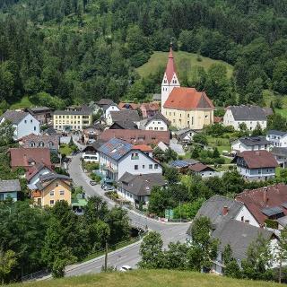 Blick auf die Gemeinde Kainach