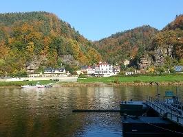 Foto Start an der Fähre in Schmilka