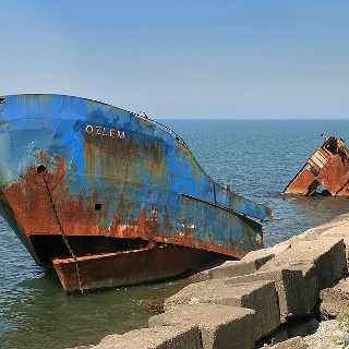 Shipwreck at Batumi Beach
