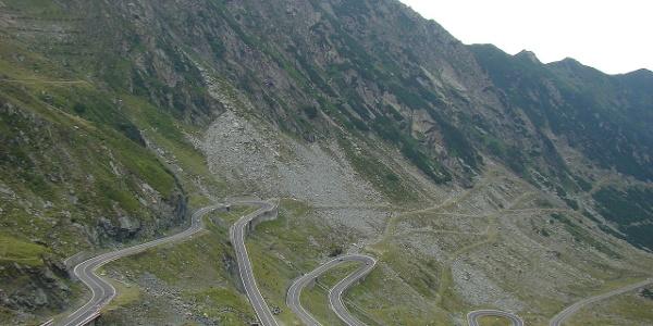 Transfagarasan Highway in the Romanian hinterland