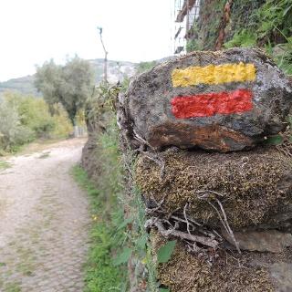 Wegemarkierung im Naturpark Alvão