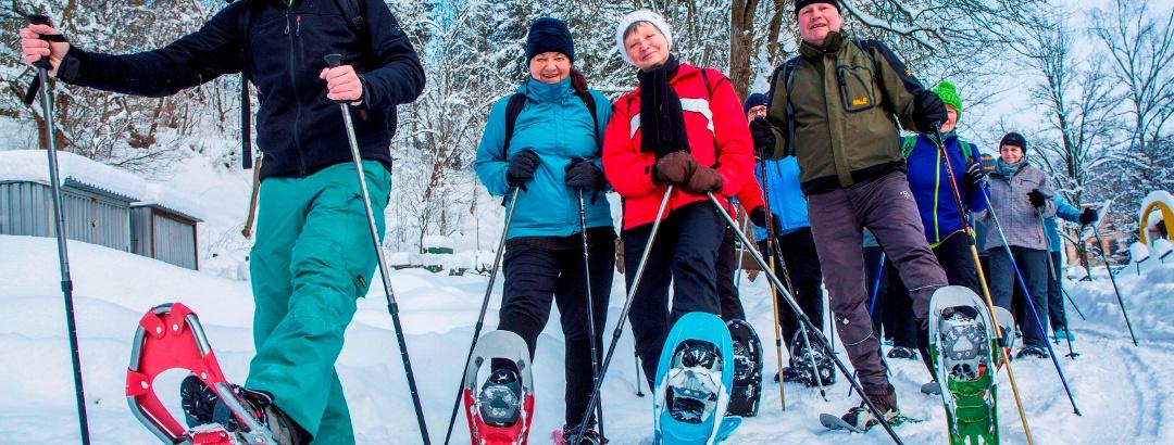 Schneeschuhwandern im Erzgebirge
