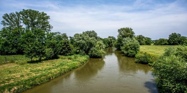 A Rába folyó Molnaszecsődnél