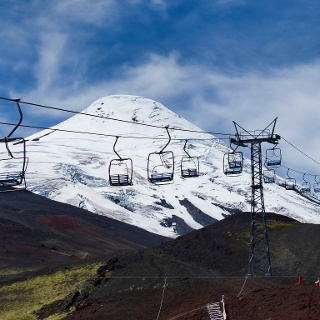 Skilift am Osorno Volcano