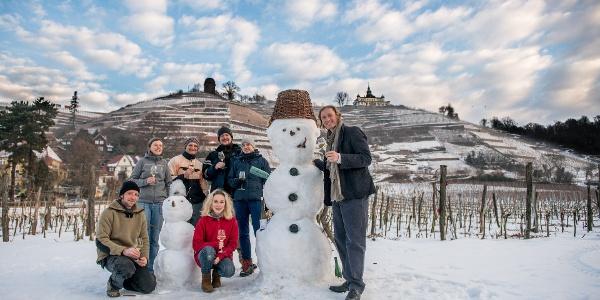 Winter auf dem Weingut Aust