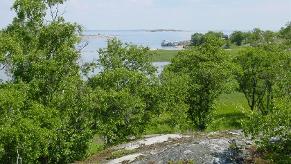 View over the archipelago