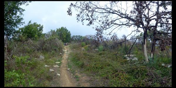 Weg von der Capella Santa Brigida zur Capella San Bernardo