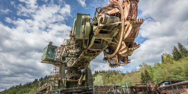 Leopold_Schaufelradbagger aus der Bergbauzeit