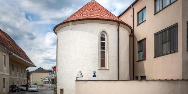 Blick auf den Stadtturm von Voitsberg