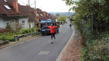 Zieleinlauf mit dem Dietrichsberglaufgewinner 2017
