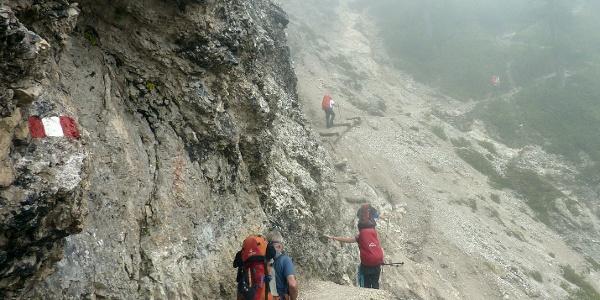 Aufstieg  zur Seekofelhütte