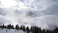 Snow shoe hike from Alfarëi to Col da Lè
