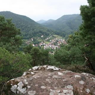 Blick vom Mäuerle auf Nothweiler