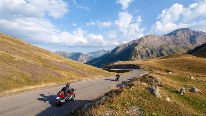 Motards au col de Vars