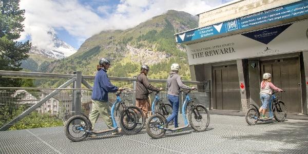 Le retour des kickbikes à la station aval de Sunnegga