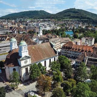 Stadtkirche und Altstadt von Olten.