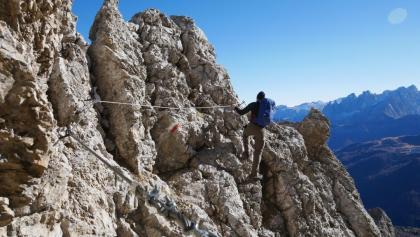 Auf dem P02 - Sentiero alpinistico per Esperti