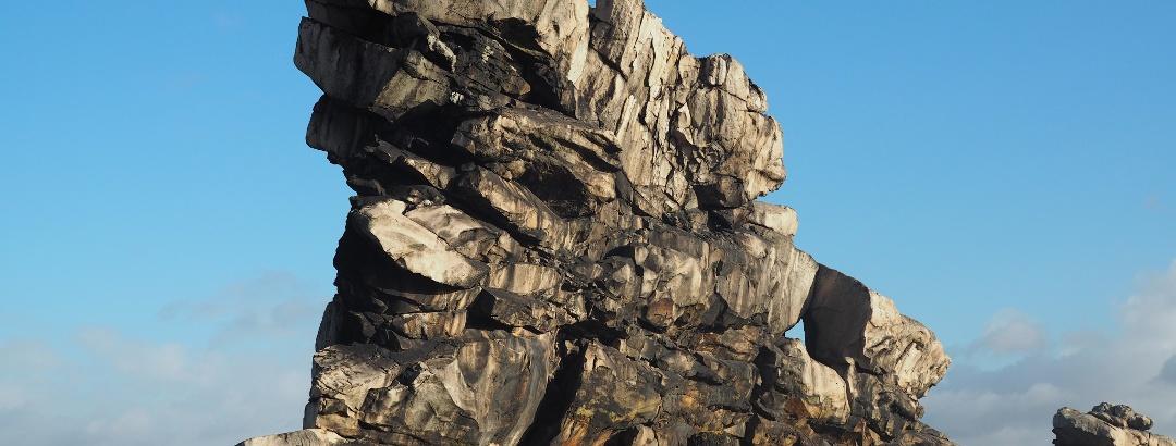 Die Felsformationen der Teufelsmauer