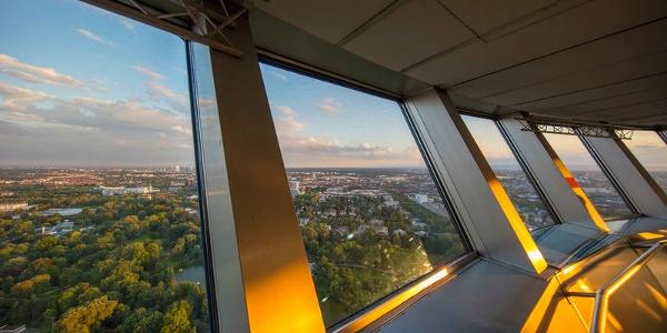 Telecommunications tower, view of Mannheim