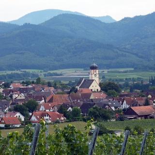Kirchhofen vom Batzenberg her
