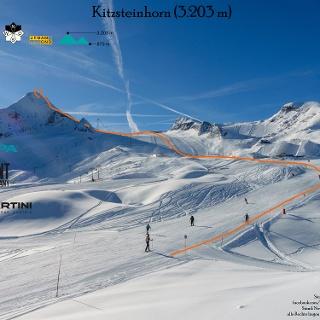 Topo Skitour auf das Kitzsteinhorn