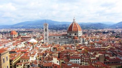 Blick auf die Dächer der Florentiner Altstadt