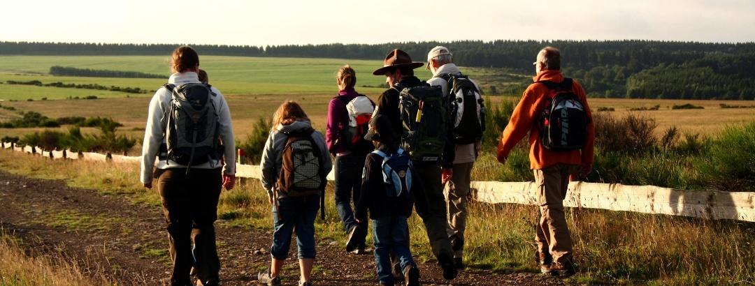 Wandern auf dem Wildnis-Trail