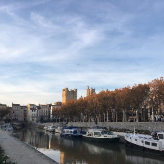 Canal de la Robine the end point in Narbonne