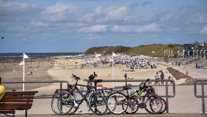 Fahrräder am Strand von Norderney