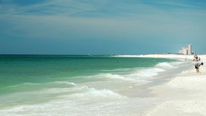 Weitblick auf den Golf von Mexiko vom Gulf State Park aus