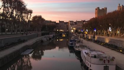 Canal de la Robine, Narbonne at sunset