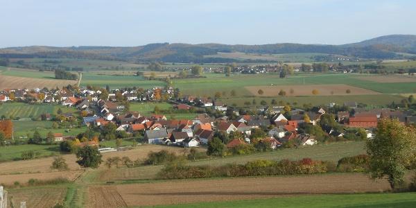 Blick auf Uslar-Eschershausen