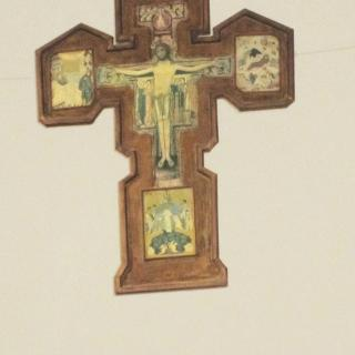 Franziskuskreuz im Kirchlein San Augostino